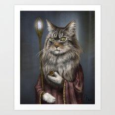 Wizard Cat Art Print