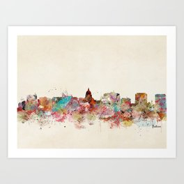 madison wisconsin skyline Art Print
