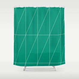 Emerald Triangles by Friztin Shower Curtain