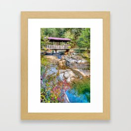 Covered Bridge, Ponca Arkansas, Buffalo National River Area Framed Art Print