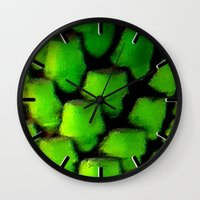 palm Wall Clocks featuring Palm by JT Digital Art