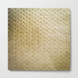 Gold Painted Metal Stylish Design Metal Print