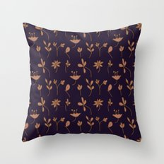Hand Drawn Floral Elements Throw Pillow