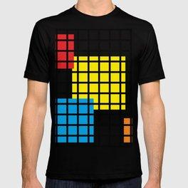 Modern geometric background, red, yellow, green,orange and blue  #society6 #decor #buyart #artprint T-shirt