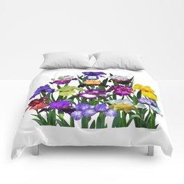 Iris garden Comforters