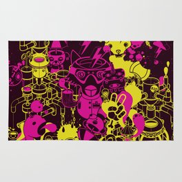 Dream Factory Pink and Yellow Rug