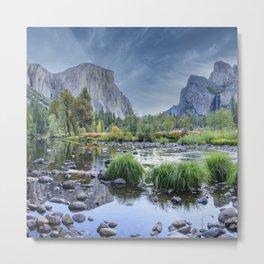 Valley View 6668 Pano - Yosemite National Park, CA Metal Print