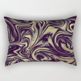 Digital Marble III - Ultra Violet +Gold Rectangular Pillow
