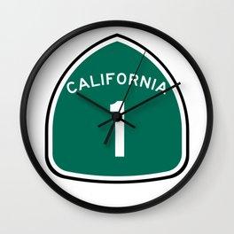 California State, Road Sign Wall Clock