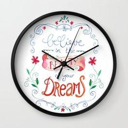 handlettering believe  Wall Clock