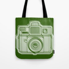 I Still Shoot Film Holga Logo - Reversed Green Tote Bag