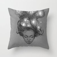 constellations Throw Pillows featuring Constellations by Antonio Caparo