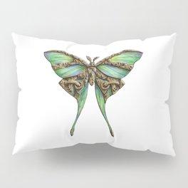 Steampunk Green Luna Moth Pillow Sham