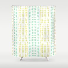 Striped dots and dashes Shower Curtain