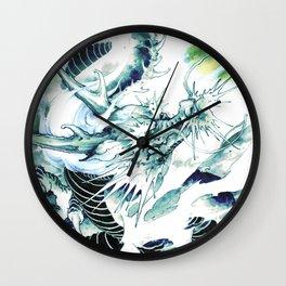 DRAGON, Ryu(Japanese), mythological creature, Street art, japanese tattoo design, Yokai, Kami, Wall Clock