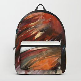 Eagle Head Detail - Watercolor Painting Backpack