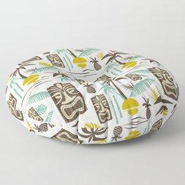 Island Tiki - White Floor Pillow