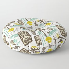 Island Tiki - White Floor Pillow