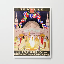 Seville Hispano American Expo 1929 art deco ad Metal Print