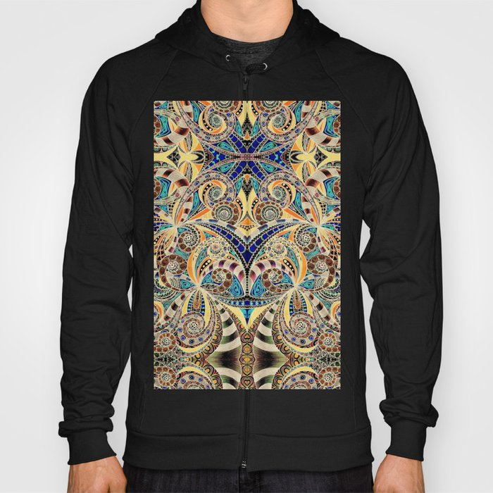 Drawing Floral Zentangle G240 Hoody