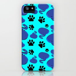 Dumpling Cat Red pattern iPhone Case