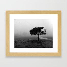 Alone in the Fog.  Framed Art Print