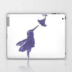 Lavender Hummingbird Papercut Laptop & iPad Skin