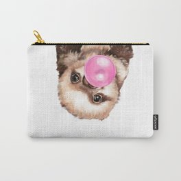 Baby Sloth Playing Bubble Gum Carry-All Pouch