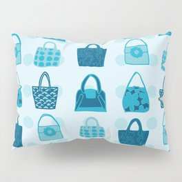 Handbag Heven Blues with Spots Pillow Sham