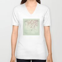 chinese V-neck T-shirts featuring Chinese Spring by Katayoon Photography