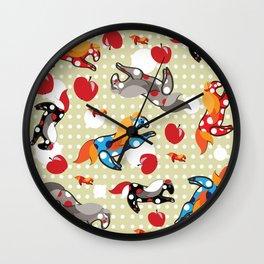 Паттерн с лошадками Wall Clock