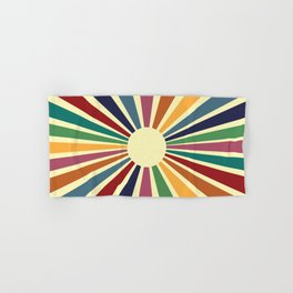 Sun Retro Art II Hand & Bath Towel