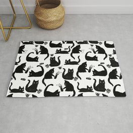 Bad Cats Knocking Stuff Over Rug