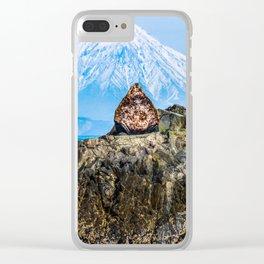 Proud sea lion Clear iPhone Case