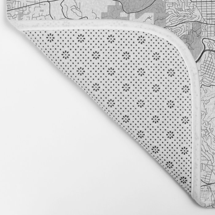 Portland Map Gray Bath Mat