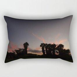 sunset in paradise Rectangular Pillow