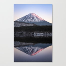 Mount Fuji in Rose Canvas Print