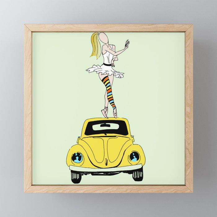 Vintage ballerina Framed Mini Art Print