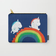 Unicorn on rainbow slide Carry-All Pouch