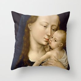 Madonna and Child Rogier van der Weyden Virgin Mary Throw Pillow