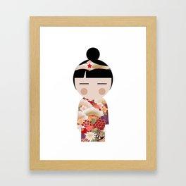 japan animation (girl power) Framed Art Print