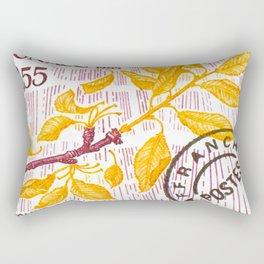 Branch of a cherry tree in autumn Rectangular Pillow