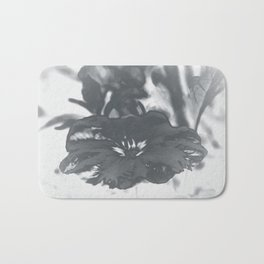 Bloom in Platinum Tone Bath Mat