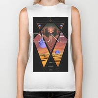 dune Biker Tanks featuring Dune Poster by S E R P E N T F I R E