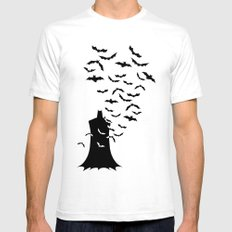 Rise of the bats SMALL Mens Fitted Tee White