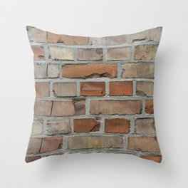 Vintage red brick wall texture Throw Pillow
