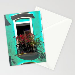 Puerto Rican balcony with flowers Stationery Cards