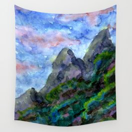 Sundowner Mountains Wall Tapestry