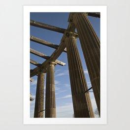 Columns Reaching Up Art Print
