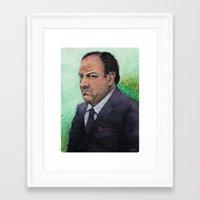 sopranos Framed Art Prints featuring TONY  by Jef2D